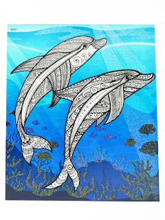 Kiddo Books Malblock Ocean World Ozeanmotive und Glitzer