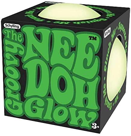 Glow in the Dark Nee-Doh Knetball weiß