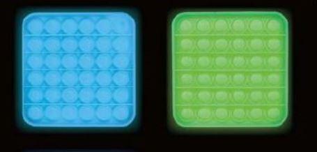PUSH POP BUBBLE  -Glow in the Dark-  quadratisch