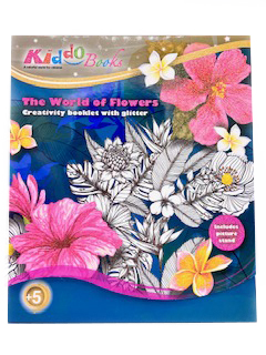 Kiddo Books Malblock The World of Flowers : Blumenmotive mit Glitzer